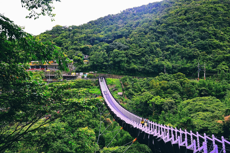 ▲作為地標的白石湖吊橋,跨越山谷極具氣勢。