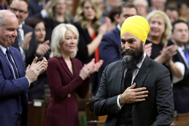 Jagmeet Singh enters the House of Commons for the first time as an MP on March 18,