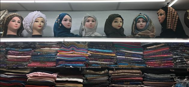 Headscarves and hijabs at The Hijab Centre in