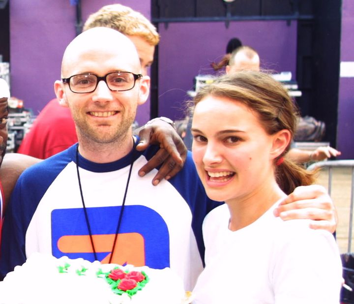 """One of the photos Moby posted on Instagram as purported """"evidence"""" that he and Natalie Portman once dated and were friends."""