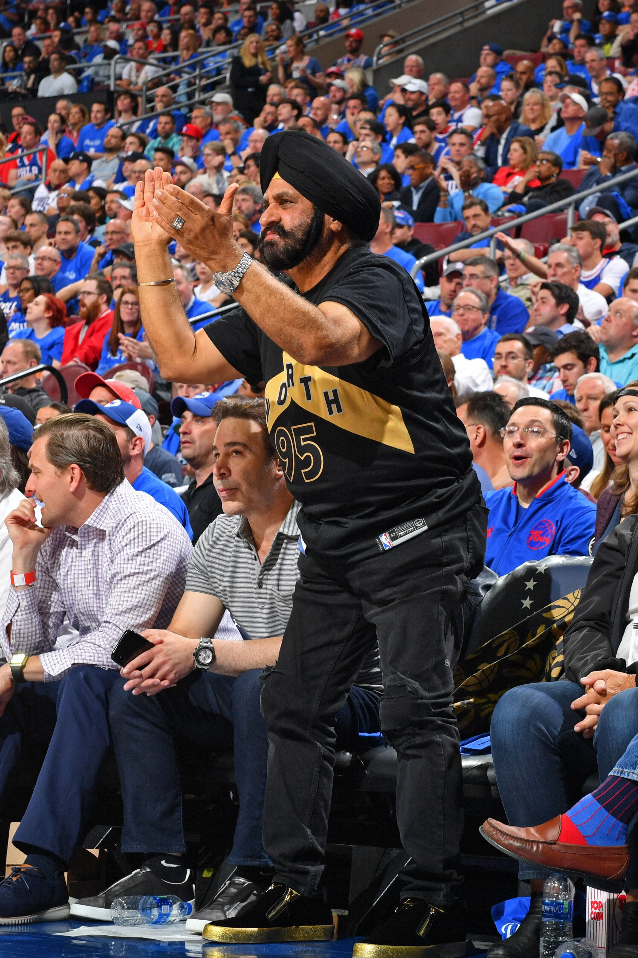Raptors Superfan Nav Bhatia Targeted With Racist Tweet. Then The Tweeter Apologized.