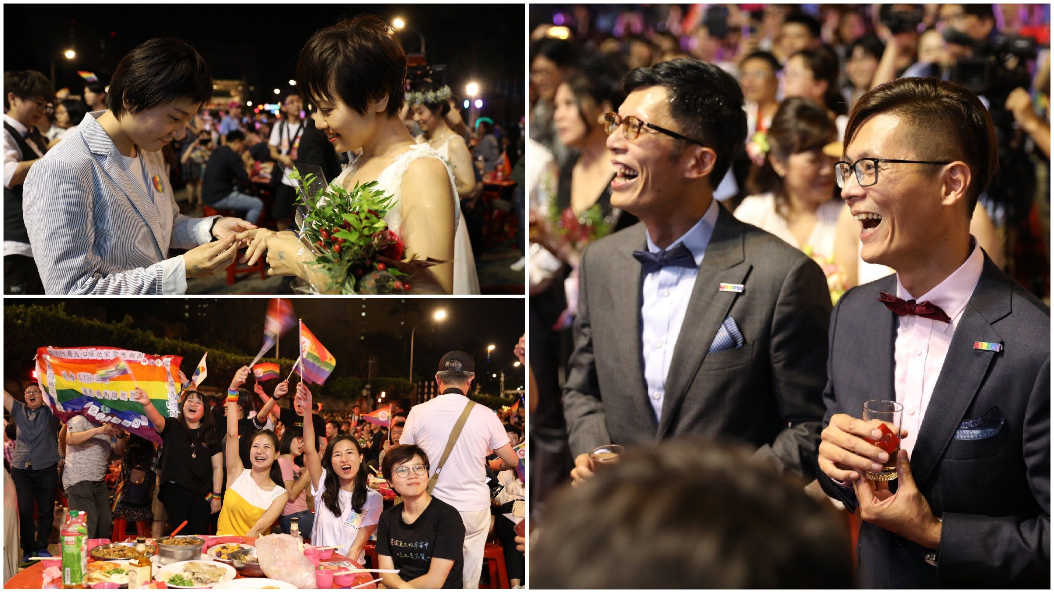 台湾で、2000人近くが同性婚を祝う「合同披露宴」