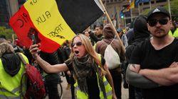 Manifestation tendue de gilets jaunes à Bruxelles contre les institutions