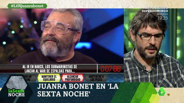 Juanra Bonet se emociona en 'laSexta Noche' al recordar la muerte de José