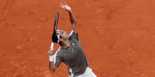 Roger Federer ce dimanche 26 mai 2019 à