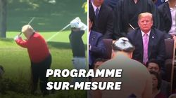 Golf, sumo et barbecue: Trump choyé par Shinzo