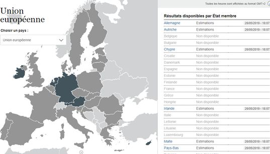 Retrouvez tous les résultats des européennes 2019 à travers toute