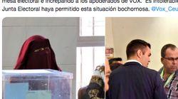 Una mujer con niqab preside una mesa en Ceuta y Vox reacciona