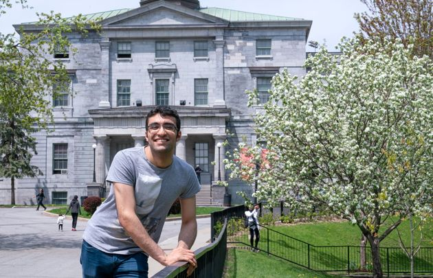 Georges Awaad is seen on the McGill University campus in Montreal on May 22,