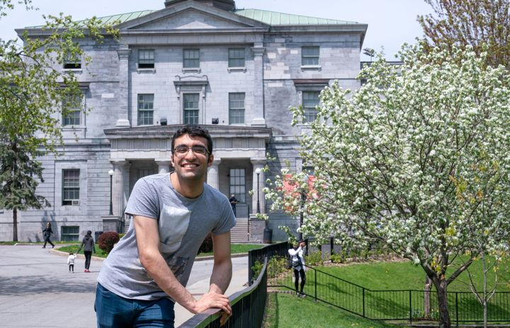 Georges Awaad is seen on the McGill University campus in Montreal on May 22, 2019.