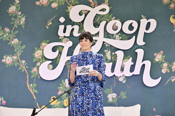 Goop's Chief Content Officer Elise Loehnen speaks onstage at the In goop Health Summit in Los Angeles on May 18.
