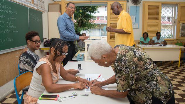 Le Rassemblement national est arrivé en tête en Guadeloupe ce 26 mai (Image d'illustration,...