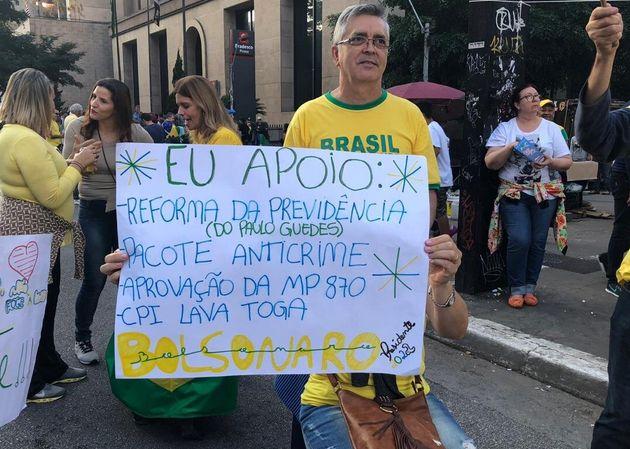A manifestação pró-Bolsonaro em 15