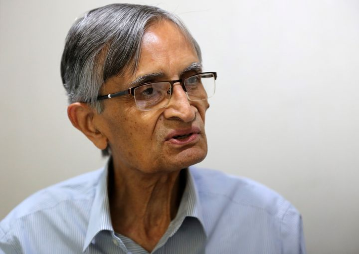 DC Anjaria, former independent director on Gujarat International Finance Tec-City (GIFT) board, speaks with Reuters inside his office in Ahmedabad, March 19, 2019.