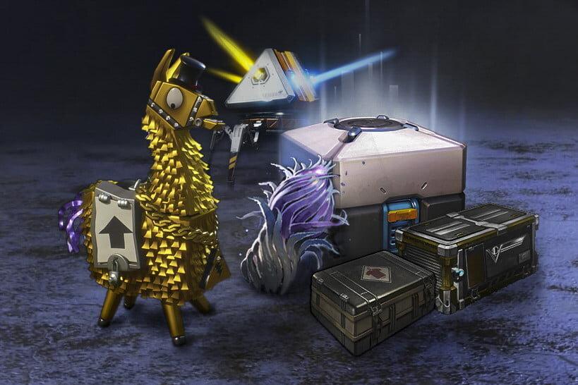 目前市售多款知名遊戲的轉蛋,或稱戰利品箱