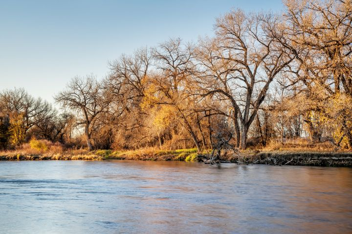 Scene from the South Platte River.