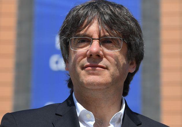 Carles Puidgemont lors d'une conférence de presse le 24 mai à