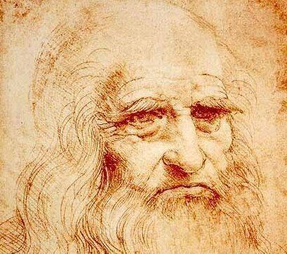 Un autoportrait de Léonard de Vinci réalisé entre 1512 et 1515.