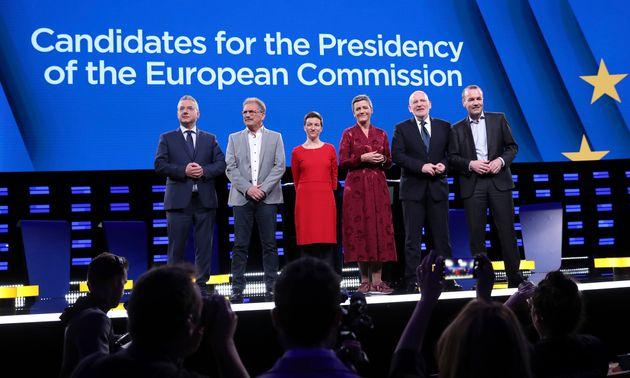 Los seis candidatos a la presidencia de la Comisión Europea, en único debate que mantuvieron...