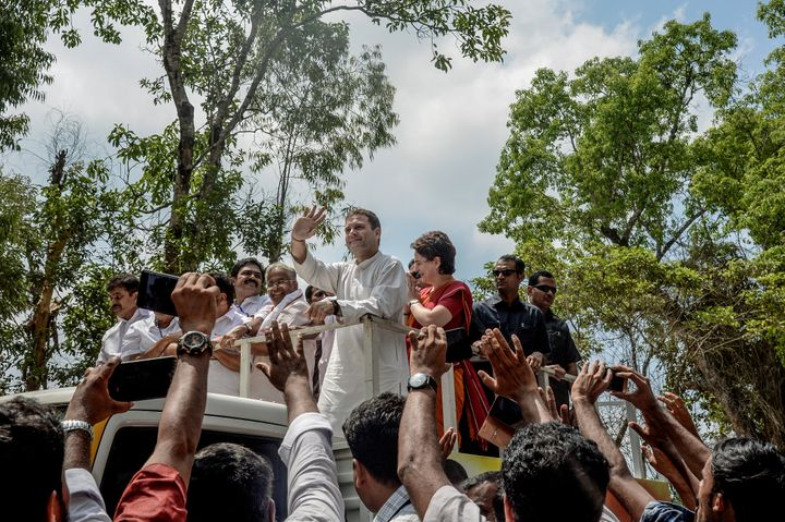 Rahul Gandhi after filing his nomination from Wayanad district.
