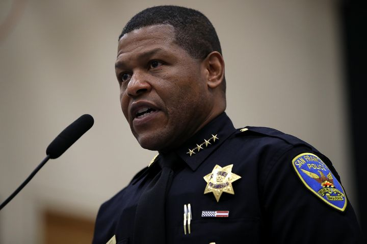 San Francisco police chief Bill Scott, seen last year, has apologized for the raid of a journalist's home and placed some bla