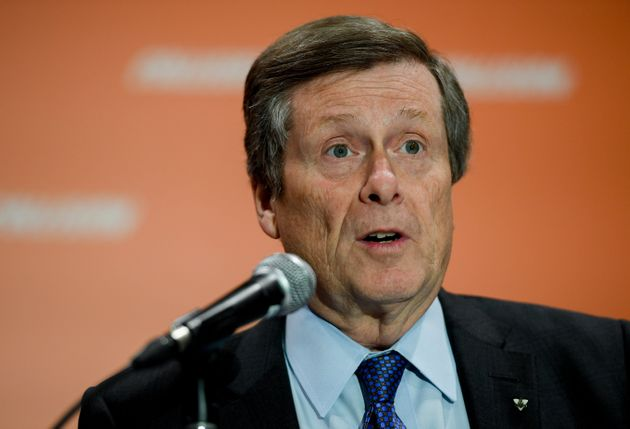 Toronto Mayor John Tory speaks at Collision 2019 at Enercare Center in Toronto on May 22,