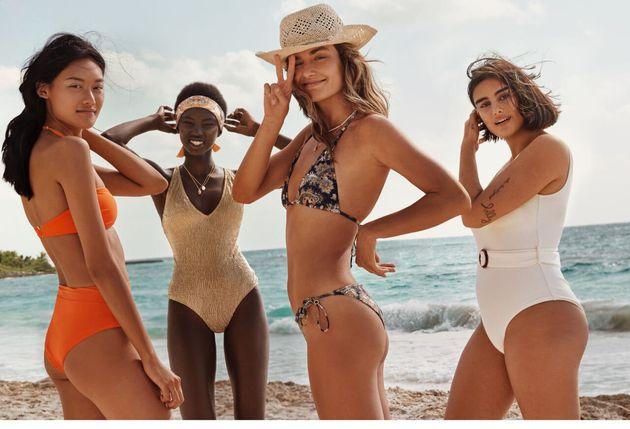 Jill Kortleve junto a las otras modelos del catálogo de