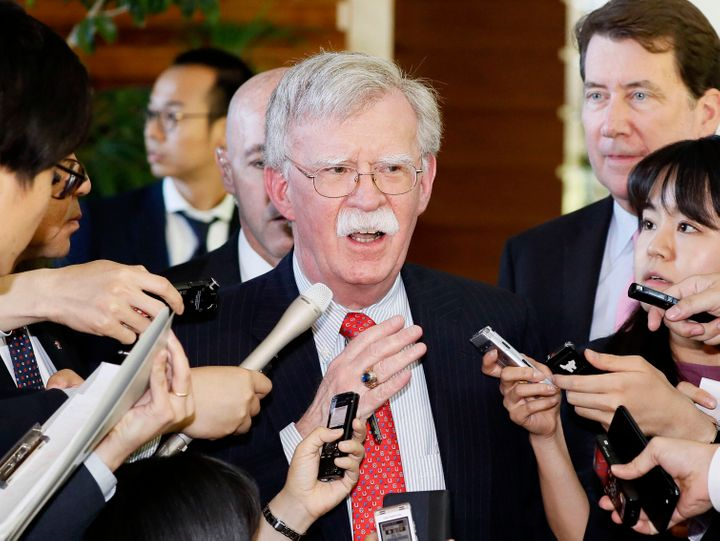 U.S. National Security Adviser John Bolton, seen Friday at the Japanese prime minister's residence in Tokyo, said a series of