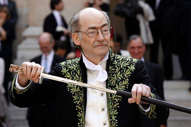François Weyergans lors de sa réception officielle à l'Académie française...