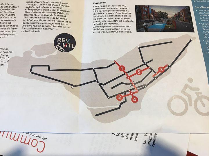 La nouvelle carte du Réseau express vélo.