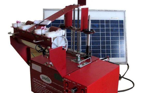 Resham Sutra saysUnnati is world's first compact, portable, solar powered silk yarn reeling, twisting...