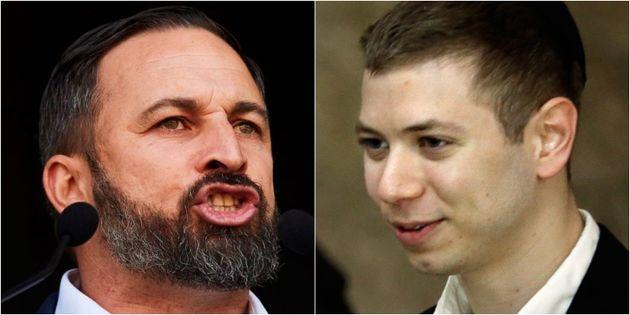 Santiago Abascal y Yair Netanyahu, en sendas imágenes de