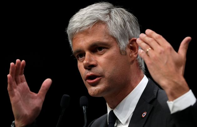 Laurent Wauquiez lors d'un meeting à Marseille en mai