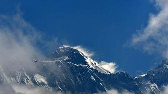 Mount Everest (height 8848 metres) is seen in the Everest region, some 140 km northeast of Kathmandu, on May 27, 2019. (Photo by PRAKASH MATHEMA / AFP)        (Photo credit should read PRAKASH MATHEMA/AFP/Getty Images)