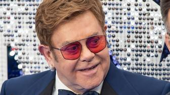 """LONDON, UNITED KINGDOM - 2019/05/20: Elton John attends the """"Rocketman"""" UK premiere at Odeon Leicester Square. (Photo by Gary Mitchell/SOPA Images/LightRocket via Getty Images)"""