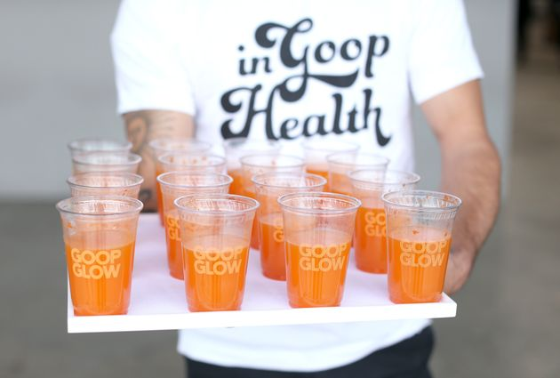 Drinks on display at the In goop Health Summit in Los Angeles 2019 on May