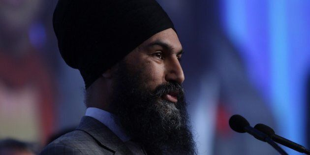 Federal NDP Leader Jagmeet Singh speaks at the B.C. NDP Convention in Victoria on Nov. 4,