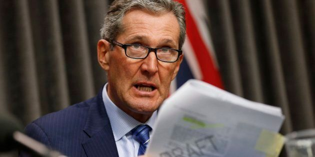 Manitoba Premier Brian Pallister speaks in Winnipeg on Nov. 7,
