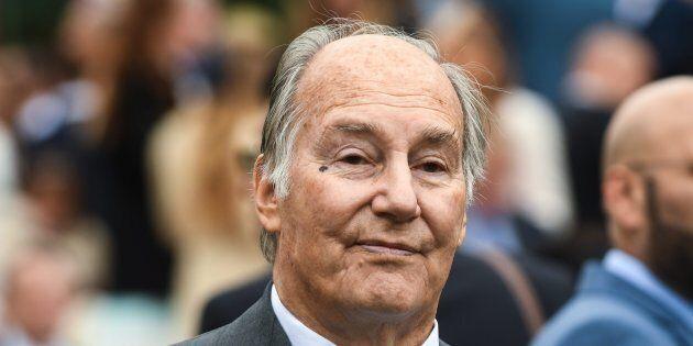 Karim Aga Khan IV attends Qatar Prix de l'Arc de Triomphe at Hippodrome of Chantilly, north of Paris,...