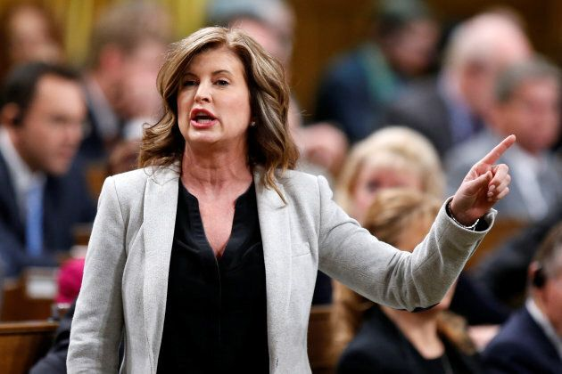 Former interim Conservative leader Rona Ambrose speaks during question period in the House of Commons...
