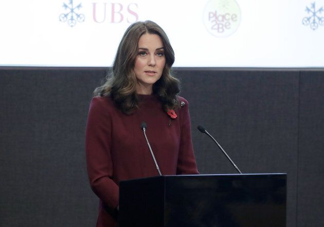 The Duchess of Cambridge addressing the annual Place2Be School Leaders