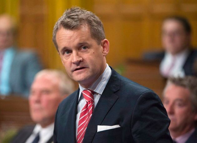 Minister of Veterans Affairs Seamus O'Regan responds to a question during Question Period in the House of Commons in Ottawa on Oct. 20, 2017.