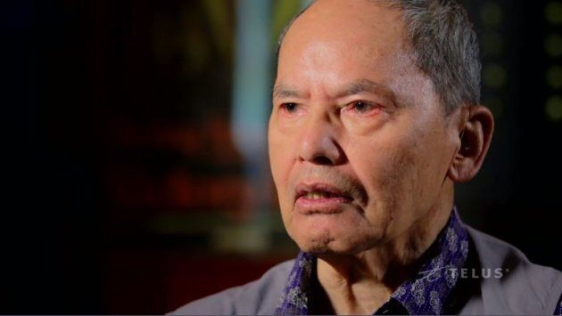 Tommy C.G. Wong, Force 136 veteran, in the documentary,
