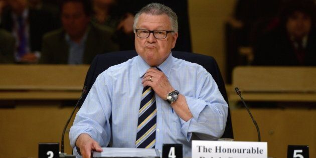 Public Safety Minister Ralph Goodale appears as a witness at a national security and defence Senate committee...