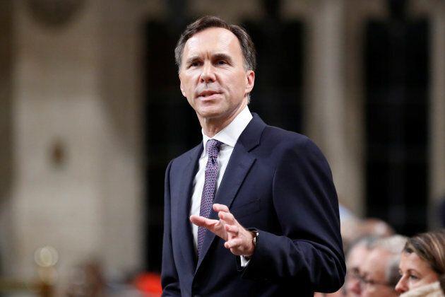 Finance Minister Bill Morneau speaks in the House of Commons in Ottawa on Oct. 24,