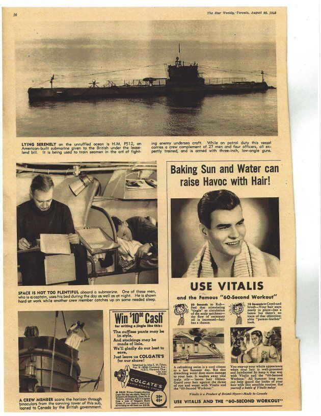 This page outlined what it was like living on a submarine during the