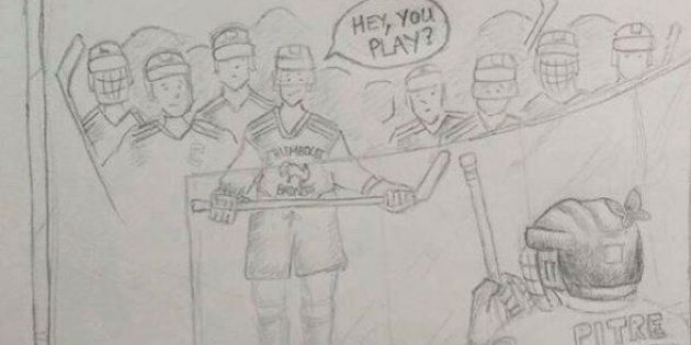 TSN's James Duthie shared this drawing depicting players from the Humboldt Broncos junior hockey team...