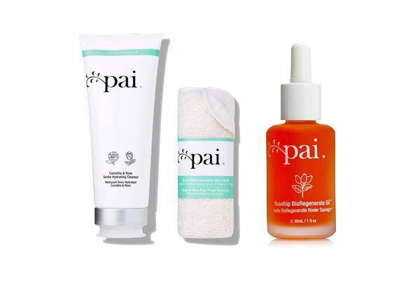 Pai Skincare Camellia & Rose Gentle Hydrating Cleanser, $56, Rosehip BioRegenerate Oil, $40,