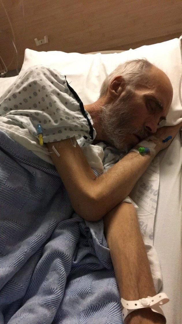 George Gould, who contracted superbug NDM-1 after a procedure in a Vancouver hospital, is pictured in January 2018 at Abbotsford Regional Hospital and Cancer Clinic.