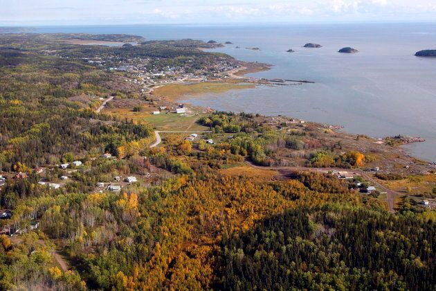 An aerial view of Fort Chipewyan, Alta., is shown on Sept. 19, 2011. Fort Chipewyan, on the boundary...